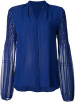 Elie Tahari sheer sleeves shirt - women - Silk/Polyester - XS