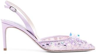 Rene Caovilla Cinderella 75mm lace pumps