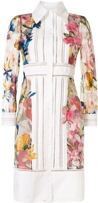 Marchesa Floral Printed Shirt Dress