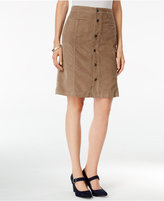 Style&Co. Style & Co. Button-Front Corduroy Skirt, Only at Macy's