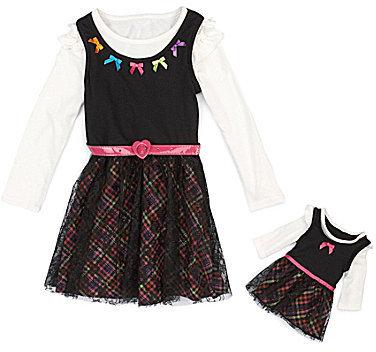 Dollie & Me 4-10 Plaid Dress