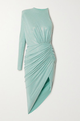 Alexandre Vauthier One-sleeve Swarovski Crystal-embellished Stretch-jersey Dress - Mint