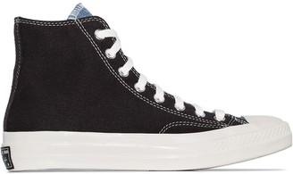 Converse Blue Chuck 70 denim mix high top sneakers