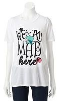 "Disney Disney's Alice in Wonderland Juniors' ""We're All Mad Here"" Graphic Tee"