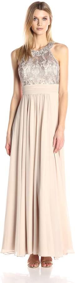 Eliza J Women's Lace Bodice with Chiffon Waistband and Skirt