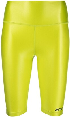 MSGM High-Waist Compression Shorts