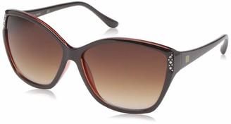 Laundry by Design Women's Ld264 Brtc Non-Polarized Iridium Round Sunglasses