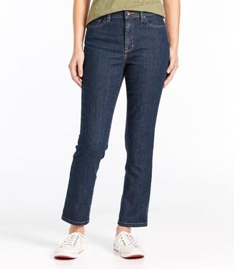 L.L. Bean Women's True Shape Ankle Jeans, Classic Slim Leg
