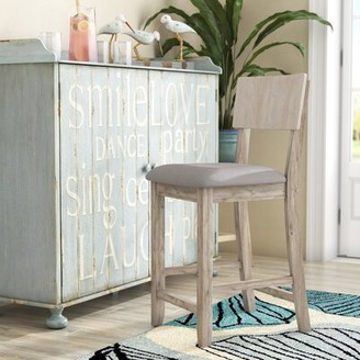 "Beachcrest Home Bonifay Bar & Counter Stool Seat Height: Counter Stool (24"" Seat Height), Color: Gray Wash"
