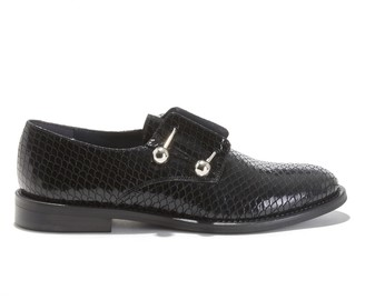 Jonak Duthen Mock Croc Brogues in Leather