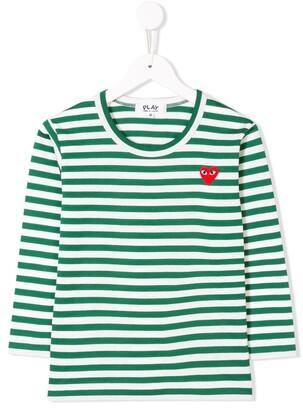 Comme Des Garçons Play Kids long-sleeve striped T-shirt