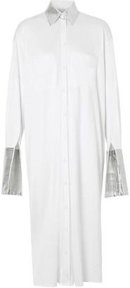 Burberry Mirrored Trim Oversize Shirt Dress