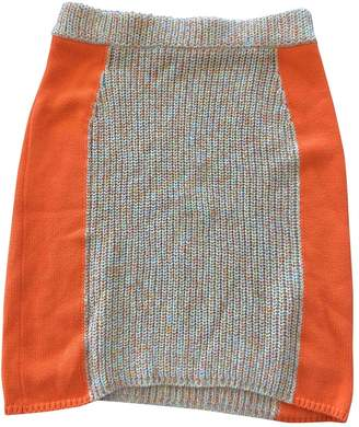 Opening Ceremony Yellow Cotton Skirt for Women