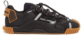 Dolce & Gabbana Ns1 Logo-embossed Mesh Trainers - Black