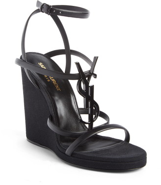 Saint Laurent Cassandra Wedge Sandal