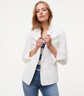 LOFT Linen Cotton Notched Blazer