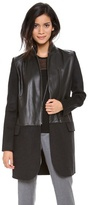 M. patmos Leather Front Coat