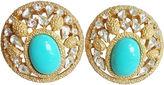 One Kings Lane Vintage 1960s Trifari Faux-Turquoise Earrings