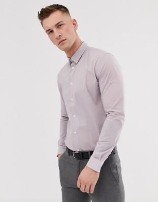 Celio slim fit smart stripe shirt-White