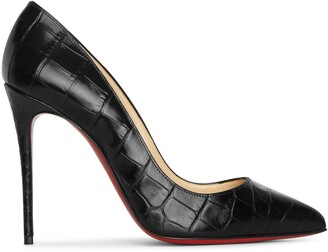 Christian Louboutin Pigalle Follies 100 black printed pumps