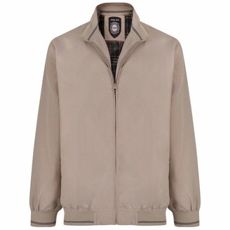 Kam. Mens Light Weight Bomber Jacket Big & Tall King Plus Sizes Taupe Beige 6XL