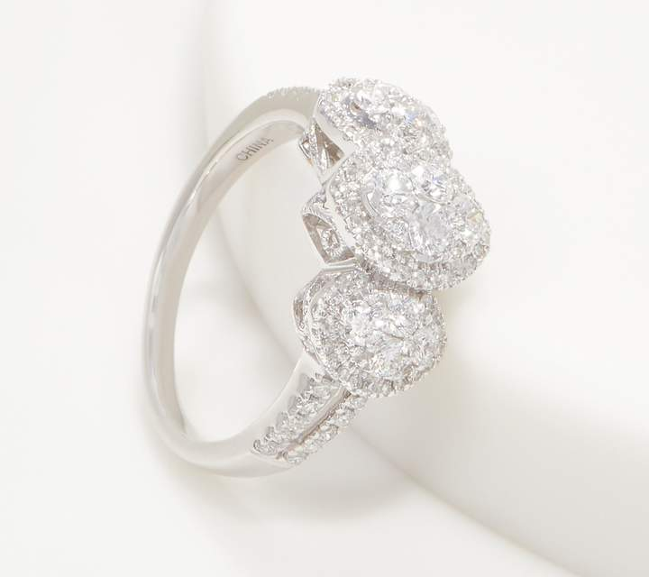 4ea1feec5b77d Affinity Diamond Jewelry Affinity 14K Gold Marquise Triple Cluster Diamond  Ring, 1.00cttw