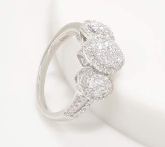 Affinity Diamond Jewelry Affinity 14K Gold Marquise Triple Cluster Diamond Ring, 1.00cttw