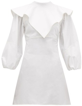 Ellery O'dell Overlay Cotton Dress - Womens - White