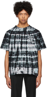 Satisfy Blue and Black Tie-Dye Reverse T-Shirt