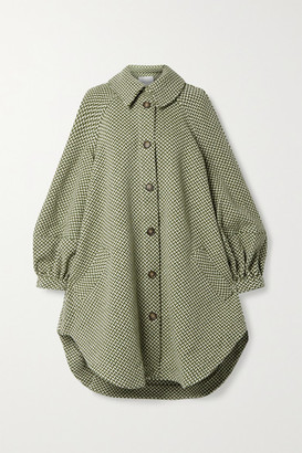 KING & TUCKFIELD Oversized Wool-tweed Coat - Army green