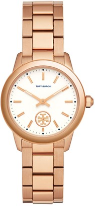 Tory Burch Collins Watch, Rose-Gold Tone/Ivory, 33 Mm