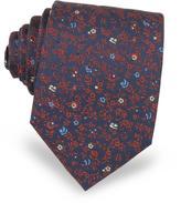 Forzieri Micro Flower Woven Silk Men's Tie