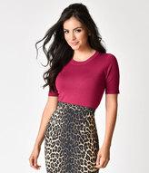 pink short sleeve sweater - ShopStyle