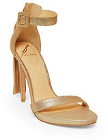 Brian Atwood Tosca Tassel Ankle-Strap Sandals