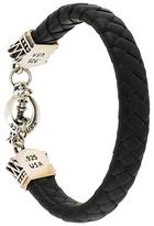 King Baby Studio crown toggle clasp braided bracelet