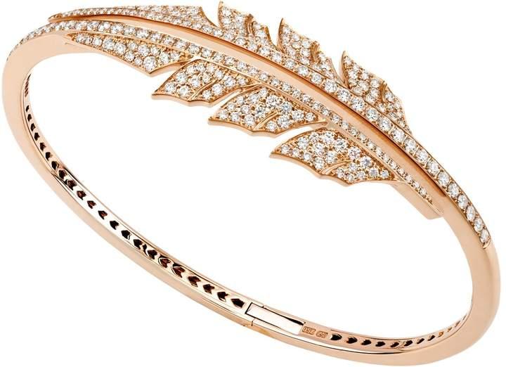 Stephen Webster Magnipheasant Pave Open Feather Bracelet