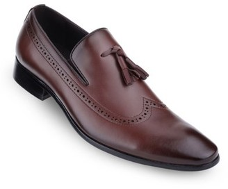 MIO Marino Mens Leather Tassel Dress Shoes
