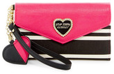 Betsey Johnson Faux Leather Wallet Wristlet