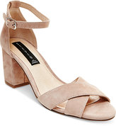 STEVEN by Steve Madden Voomme Ankle-Strap Block Heel Dress Sandals