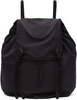 Yohji Yamamoto Black Drawstring Backpack