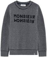 Jean Bourget Chevron Crewneck Sweater