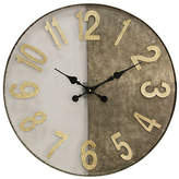 Stylecraft Wire Mesh And Galvanized Metal Wall Clock, One Size , Brown