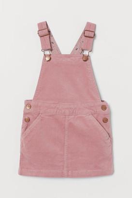 H&M Corduroy dungaree dress