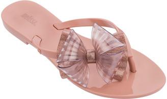 Melissa Shoes Harmonic Plaid Bowed Thong Sandals