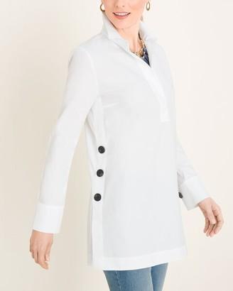 No Iron Oxford Button-Detail Tunic