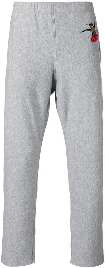 Alexander McQueen swallow print tapered trousers