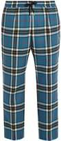 Gucci Tartan wool track pants