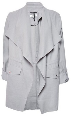 Dorothy Perkins Womens **Dp Tall Grey Waterfall Jacket, Grey