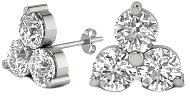 LeVian Suzy Diamonds Suzy 14K 0.20 Ct. Tw. Diamond Cluster Studs