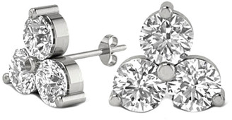 LeVian Suzy 14K 0.20 Ct. Tw. Diamond Cluster Studs